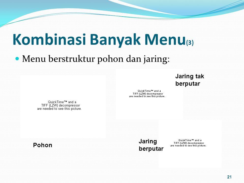 Kombinasi Banyak Menu (4) Peta situs: digunakan untuk membantu pengguna mengetahui secara keseluruhan ruang informasi yang tersedia 22 www.ebay.com