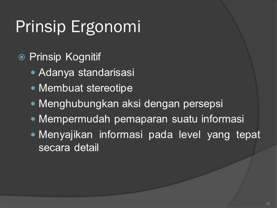 Prinsip Ergonomi  Prinsip Fisikal (lnjt): Memberikan mobilisasi dan mengubah postur/posisi Menahan getaran Menciptakan lingkungan yang menyenangkan :