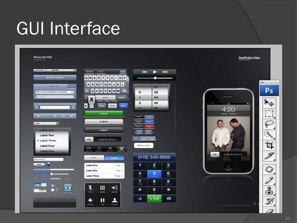 4. Antarmuka pengguna grafik : Berbentuk visual (GUI : Graphic User Interface) menggunakan grafik, ikon, dan animasi Secara komersil mulai tahun 1980-