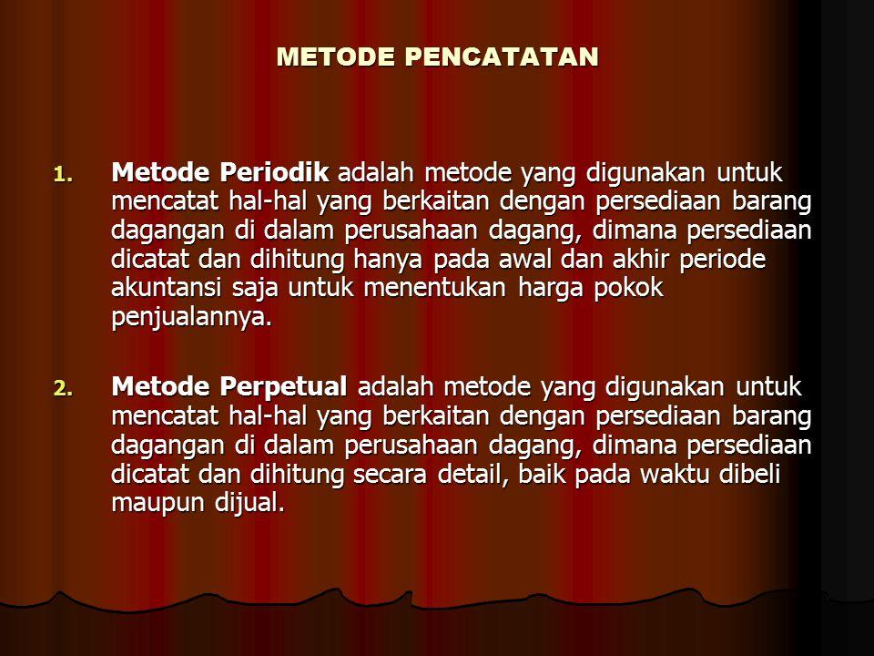 METODE PENCATATAN 1.