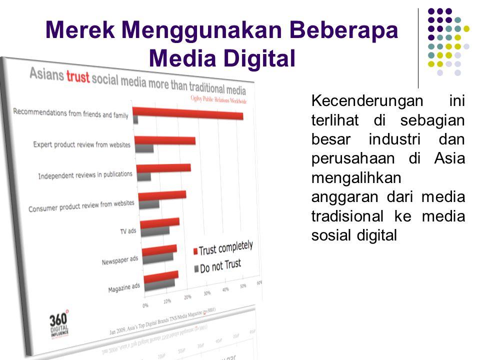 Merek Menggunakan Beberapa Media Digital Kecenderungan ini terlihat di sebagian besar industri dan perusahaan di Asia mengalihkan anggaran dari media tradisional ke media sosial digital