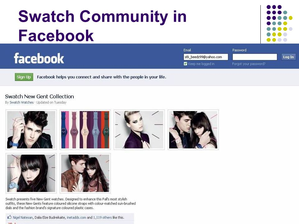 Swatch Community in Facebook