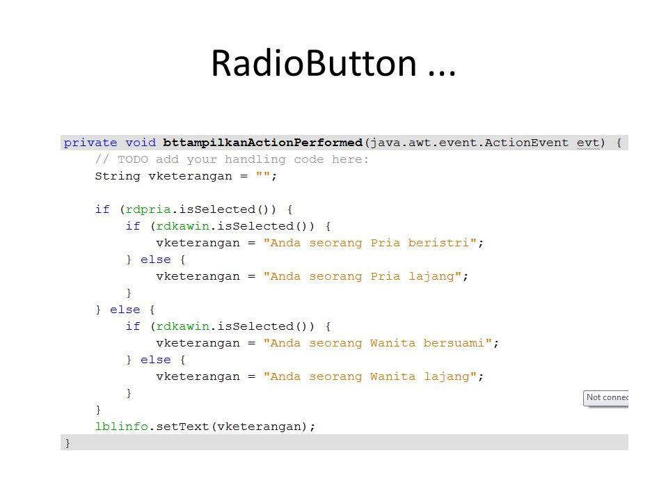 RadioButton...