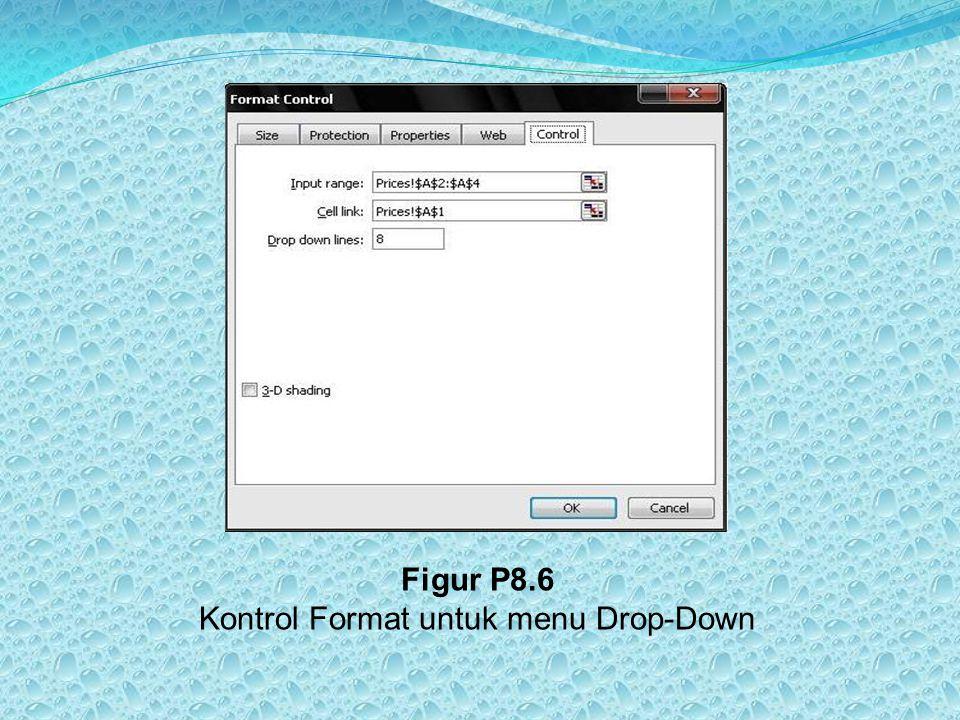 Figur P8.6 Kontrol Format untuk menu Drop-Down