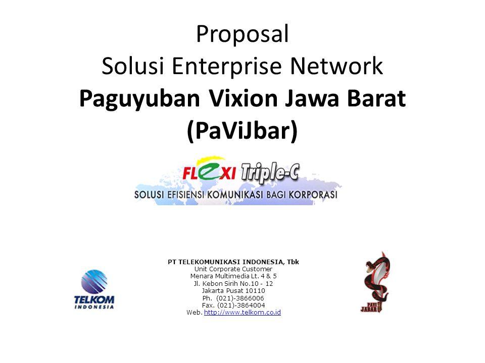 Proposal Solusi Enterprise Network Paguyuban Vixion Jawa Barat (PaViJbar) PT TELEKOMUNIKASI INDONESIA, Tbk Unit Corporate Customer Menara Multimedia L
