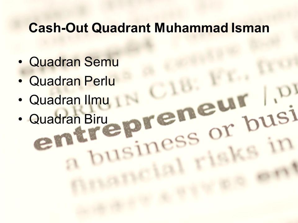 Cash-Out Quadrant Muhammad Isman Quadran Semu Quadran Perlu Quadran Ilmu Quadran Biru