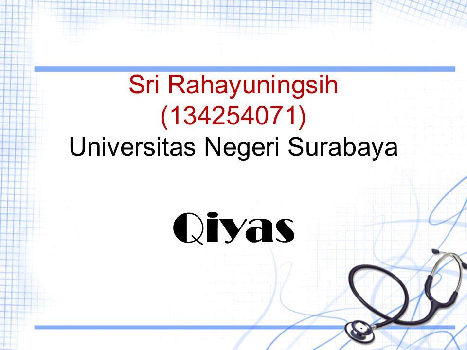 Sri Rahayuningsih (134254071) Universitas Negeri Surabaya Qiyas