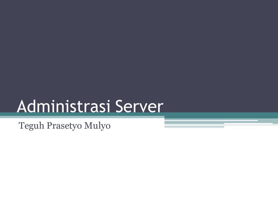 Linux awalnya adalah system operasi yang digunakan untuk server pada jaringan, walau sekarang sudah ada linux yang digunakan pada desktop ataupun laptop.