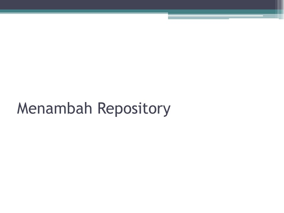 Menambah Repository