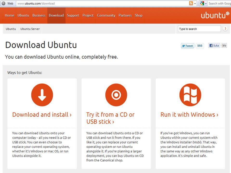 Linux ubuntu di bundel dalam bentuk sedarhana dan hanya menampung aplikasi-aplikasi dan tool-tool yang di perlukan sebagai dasar instalasi.