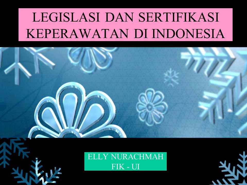 LEGISLASI DAN SERTIFIKASI KEPERAWATAN DI INDONESIA ELLY NURACHMAH FIK - UI
