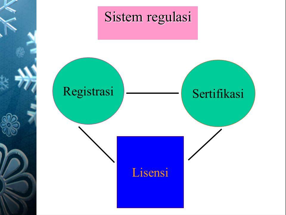 Sistem regulasi Registrasi Sertifikasi Lisensi
