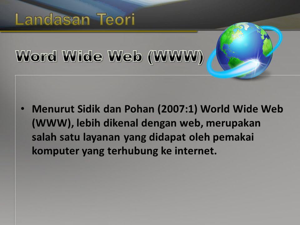 Copyright © Wondershare Software Menurut Sidik dan Pohan (2007:1) World Wide Web (WWW), lebih dikenal dengan web, merupakan salah satu layanan yang didapat oleh pemakai komputer yang terhubung ke internet.
