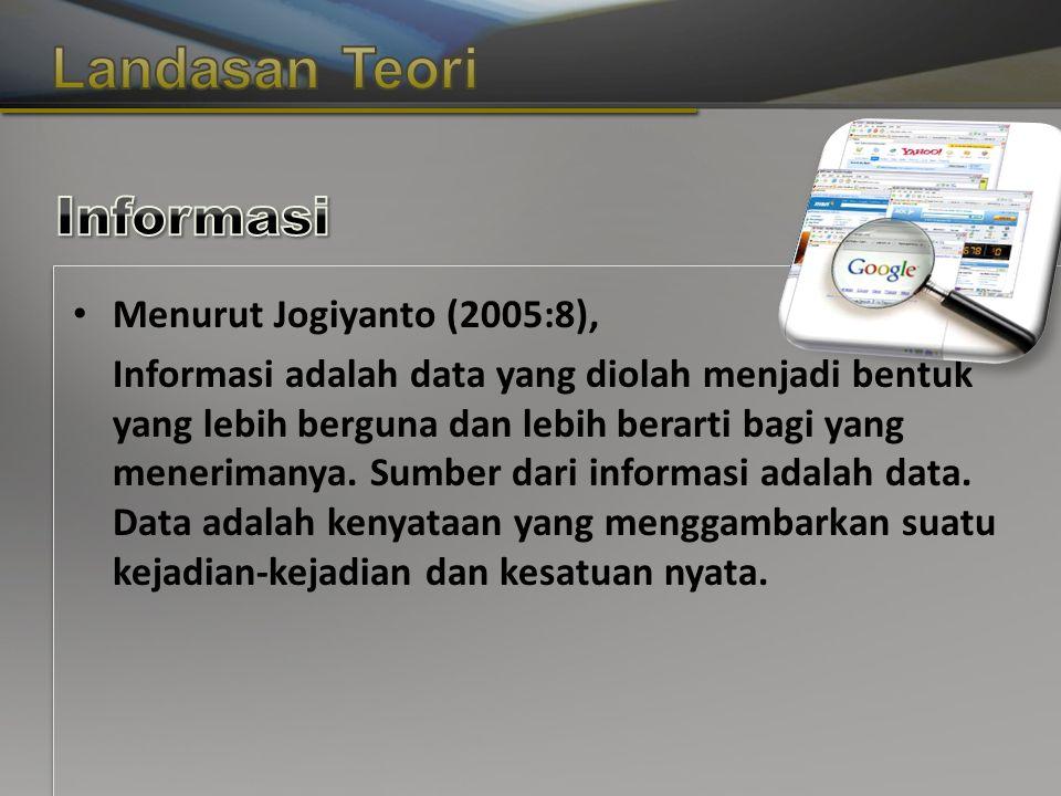 Copyright © Wondershare Software Menurut Jogiyanto (2005:8), Informasi adalah data yang diolah menjadi bentuk yang lebih berguna dan lebih berarti bagi yang menerimanya.