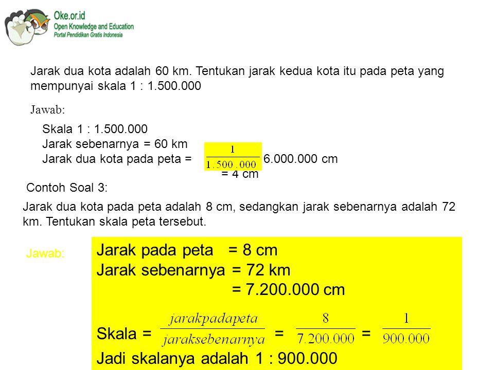 KESEBANGUNAN Skala adalah suatu perbandingan antara ukuran pada gambar dan ukuran sebenarnya.