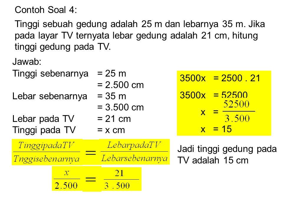 Contoh Soal 2: Jarak dua kota adalah 60 km.