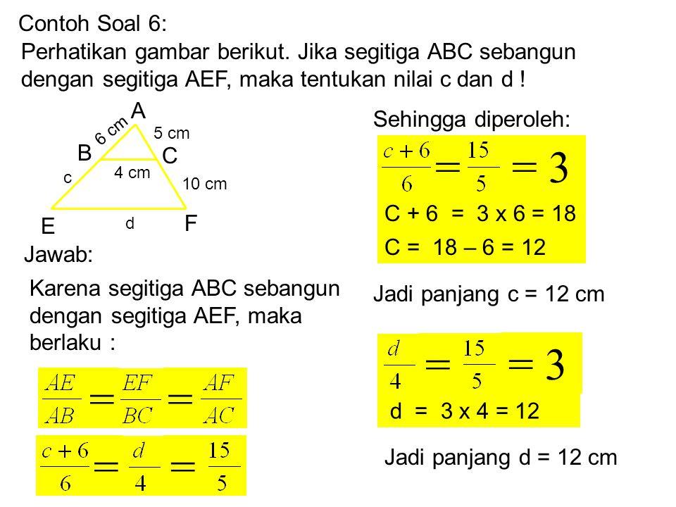 Contoh Soal 5: Perhatikan gambar berikut.Apakah segitiga KLM sebangun dengan segitiga TRS.