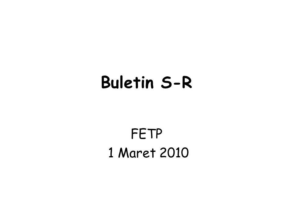 Buletin S-R FETP 1 Maret 2010