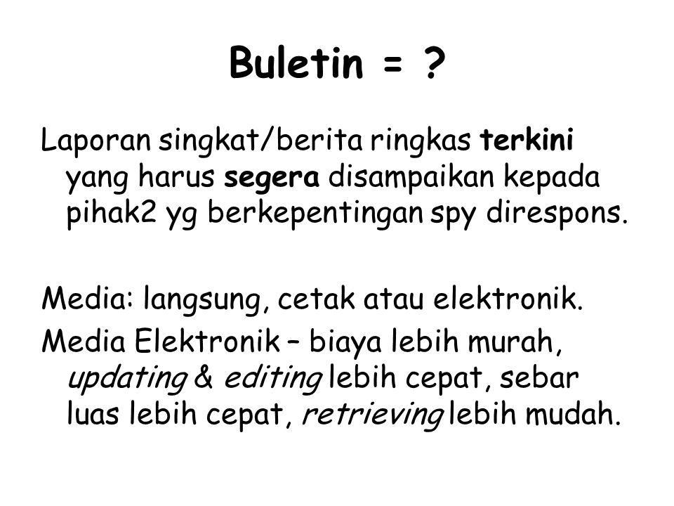Buletin = .