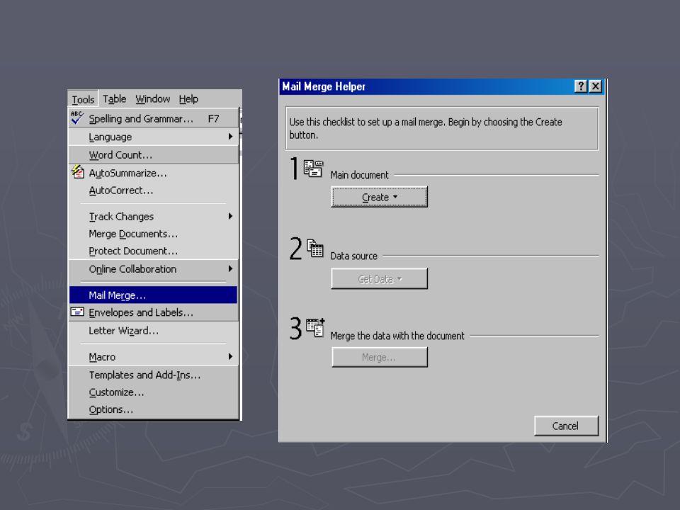 ► Untuk mengeset dokumen utama, pada Main Dokumen, klik Create.