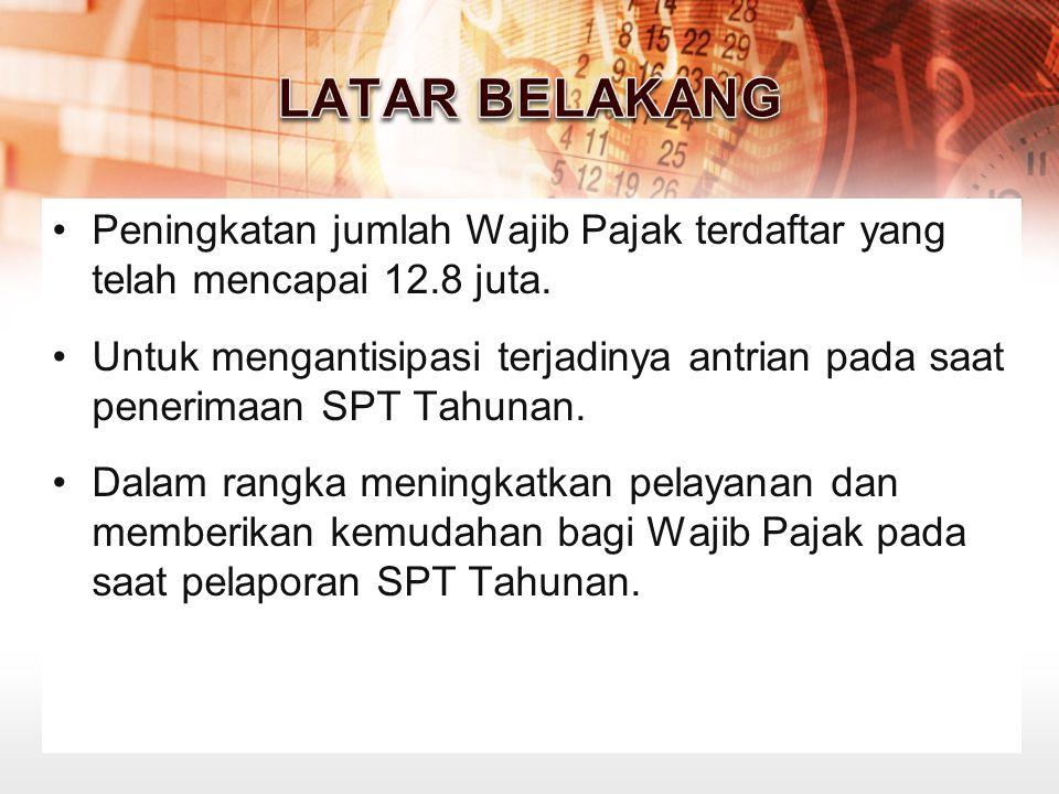 SPT diterima setelah dilakukan penelitian kelengkapan SPT yang diterima terbatas pada SPT WP yang terdaftar di KPP sendiri SPT Tanpa amplop tertutup, kecuali melalui Pos/ekspedisi.