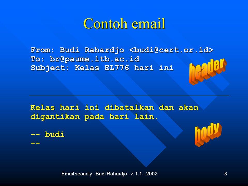 Email security - Budi Rahardjo - v.