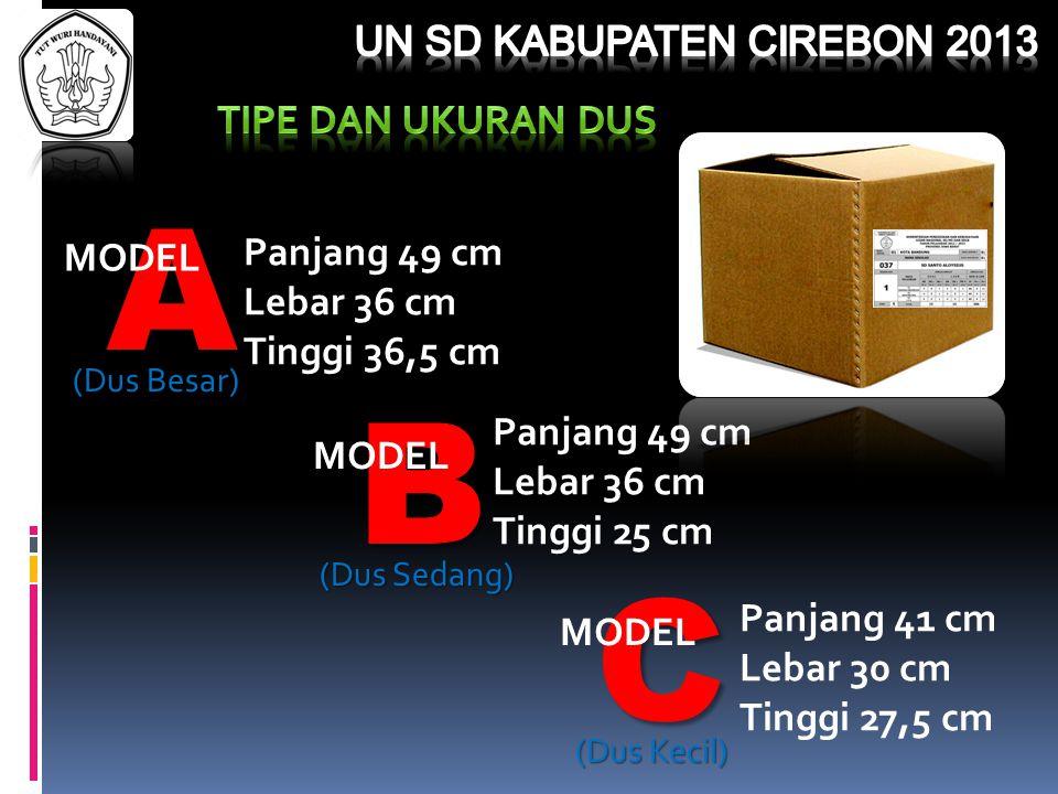 A B C MODEL Panjang 49 cm Lebar 36 cm Tinggi 36,5 cm MODEL Panjang 49 cm Lebar 36 cm Tinggi 25 cm MODEL Panjang 41 cm Lebar 30 cm Tinggi 27,5 cm (Dus