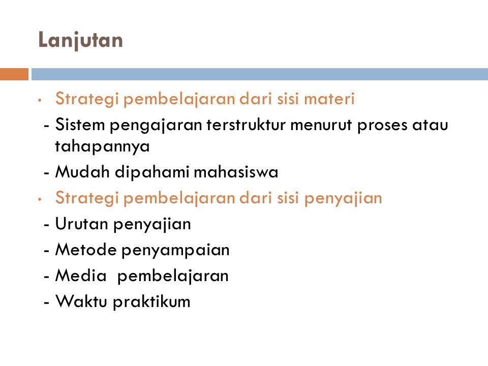 Strategi Pembelajaran Praktikum 1.