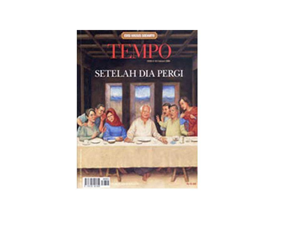 Makna cover Selain berita, peneliti juga melihat makna simbolik cover majalah Tempo menggunakan teknik framing Pan Kosjiki.