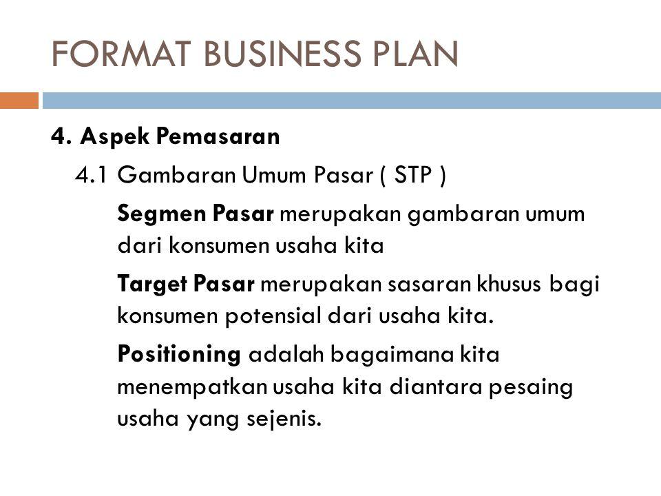 FORMAT BUSINESS PLAN 4.