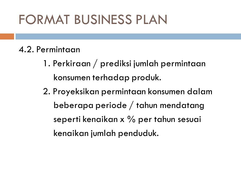 FORMAT BUSINESS PLAN 4.2.Permintaan 1.