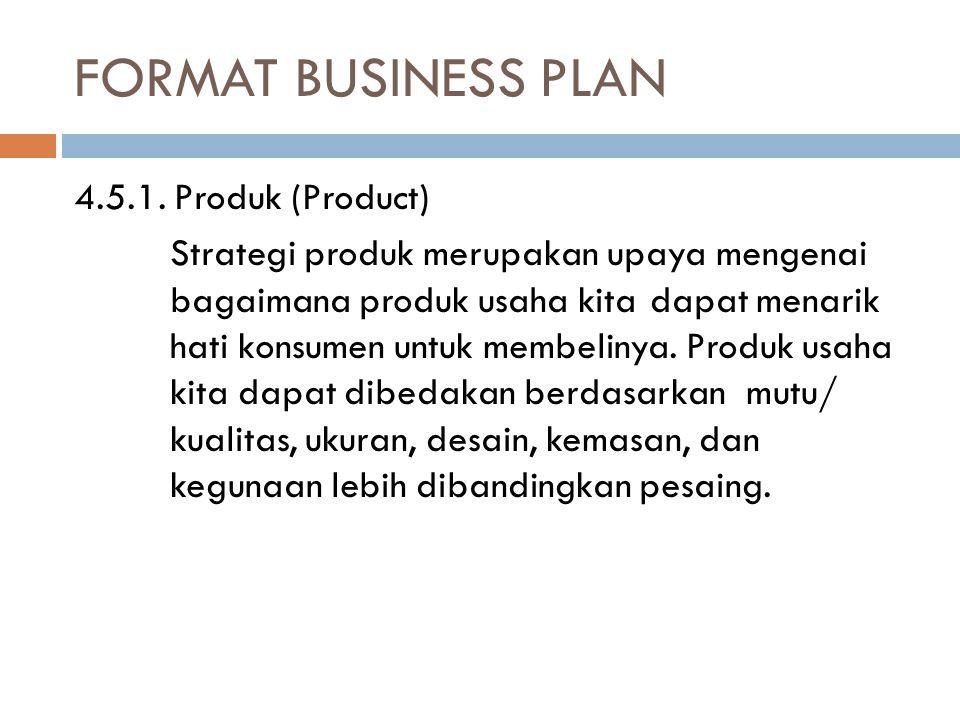 FORMAT BUSINESS PLAN 4.5.1.