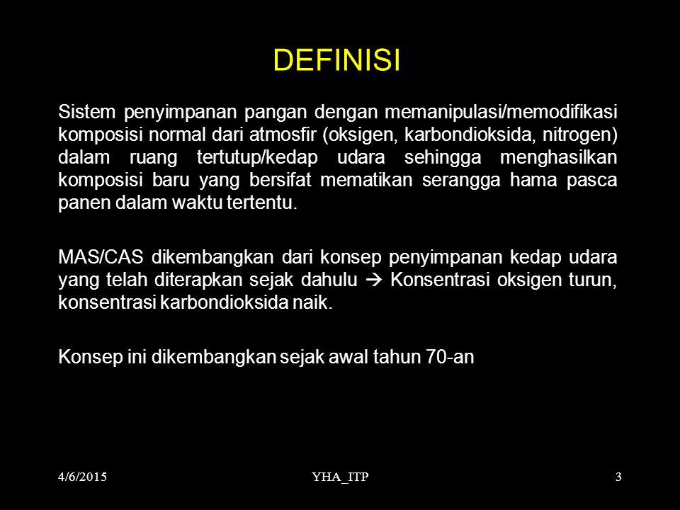 YHA_ITP4 KONSEP MAS/CAS MAS/CAS dikembangkan dari konsep penyimpanan kedap udara (AIRTIGHT STORAGE) yang telah diterapkan sejak dahulu.