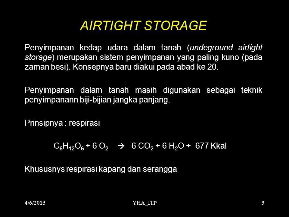 YHA_ITP5 AIRTIGHT STORAGE Penyimpanan kedap udara dalam tanah (undeground airtight storage) merupakan sistem penyimpanan yang paling kuno (pada zaman