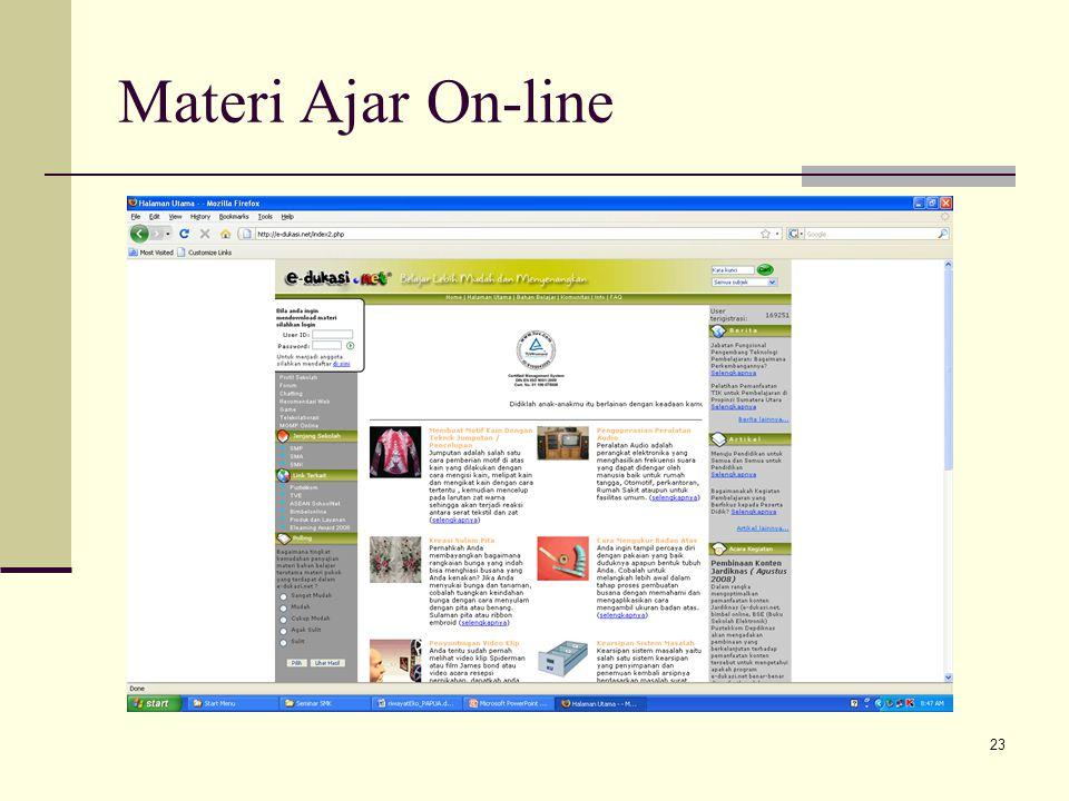23 Materi Ajar On-line