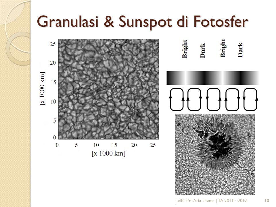 10 Judhistira Aria Utama | TA 2011 - 2012 Granulasi & Sunspot di Fotosfer