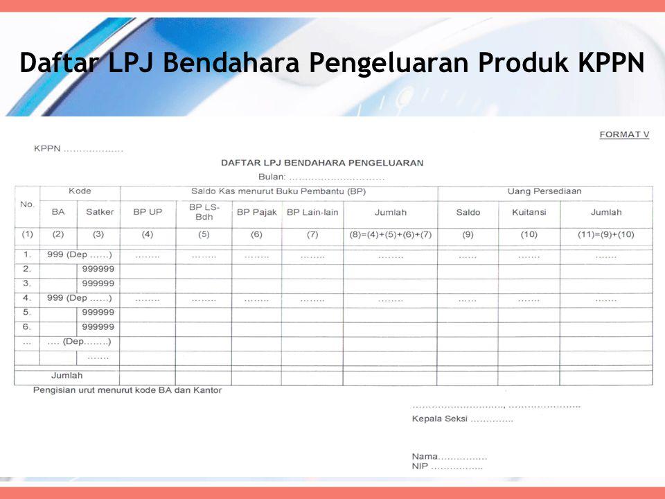 Daftar LPJ Bendahara Pengeluaran Produk KPPN 61