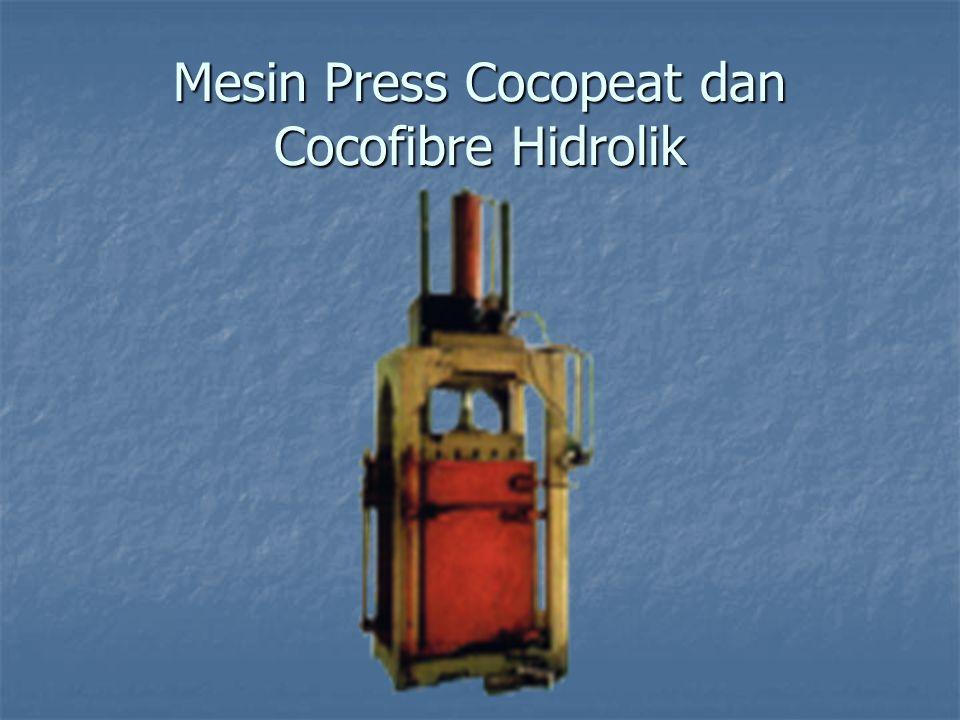 Mesin Press Cocopeat dan Cocofibre Hidrolik