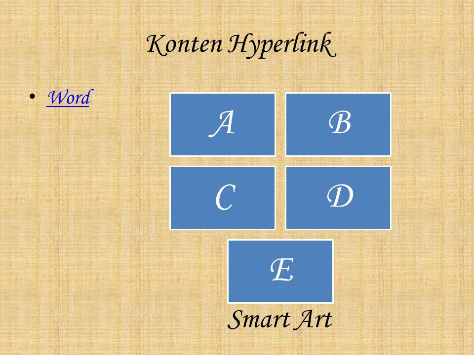 Konten Hyperlink Word AB CD E Smart Art