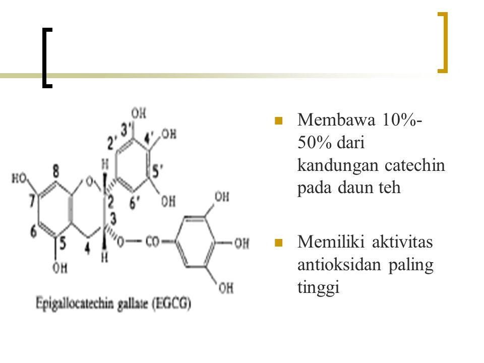 10 g serbuk teh hijau -direndam 5 menit dalam 500 mL air pada 100  C -disaring Residu Filtrat -dikeringkan dalam freeze-dried -dimasukkan dalam desikator 0,5 g serbuk kering - dilarutkan dalam 100 mL aquades deionisasi