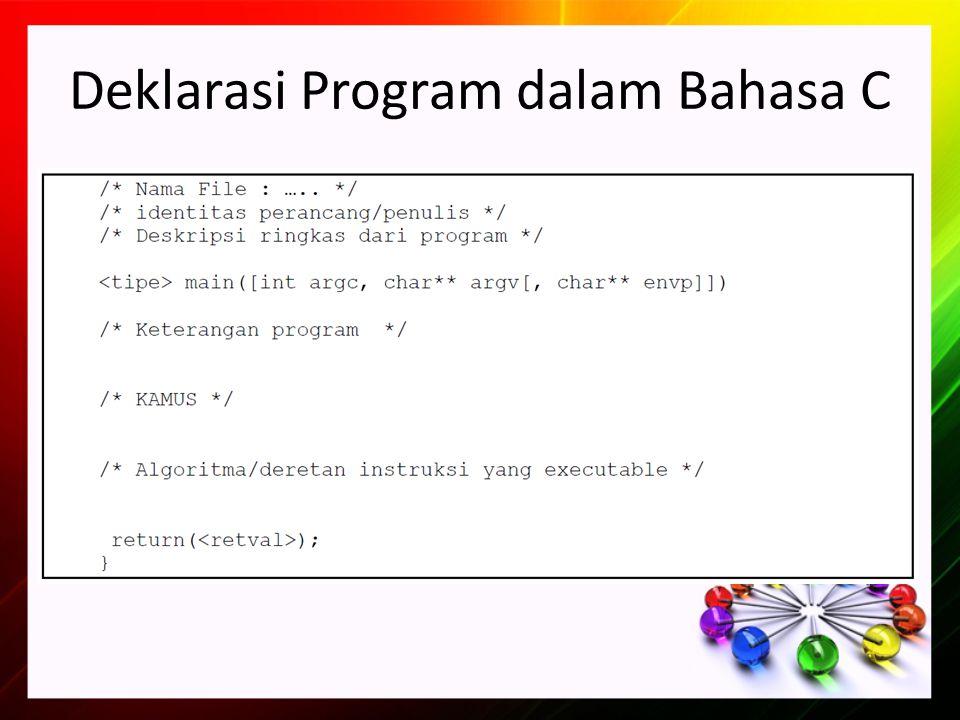 Deklarasi Program dalam Bahasa C