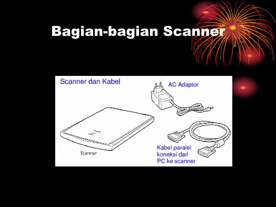 Cara kerja Scanner Ketika tombol mouse ditekan memulai Scanning, yang terjadi adalah penekanan tombol mouse dari komputer menggerakkan pengendali kecepatan pada mesin scanner.