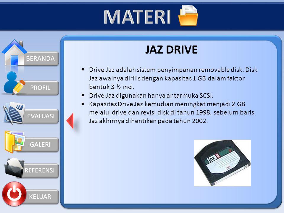 BERANDA GALERI REFERENSI KELUAR PROFIL ZIP DISK  Zip disk adalah disk berlapis magnetik berkualitas tinggi yang memiliki kapasitas sebesar 100, 250 b