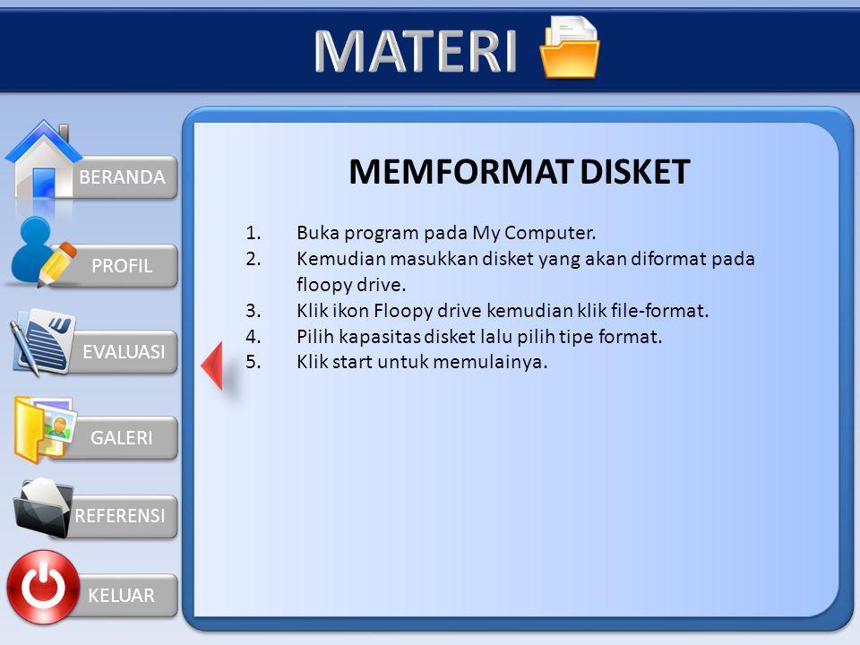 BERANDA GALERI REFERENSI KELUAR PROFIL  Memory Flash Media memori flash ada tiga macam, yaitu : 1. Kartu memori 2. Stik memori flash 3. Drive memori