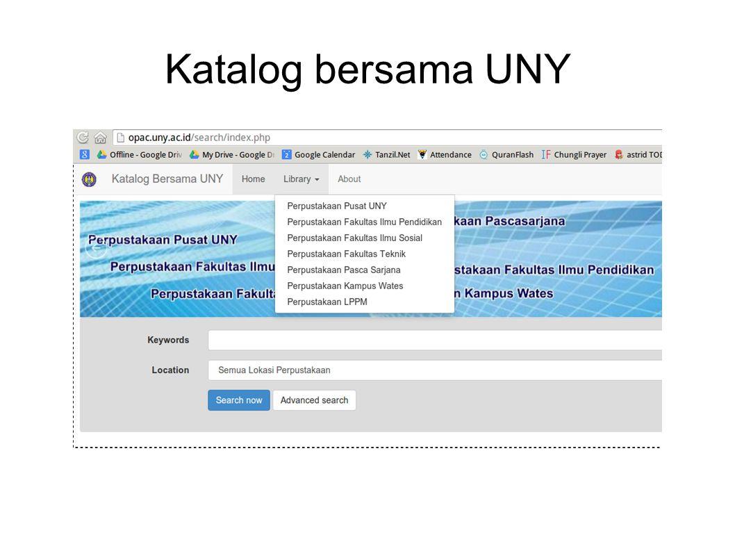 Katalog bersama UNY