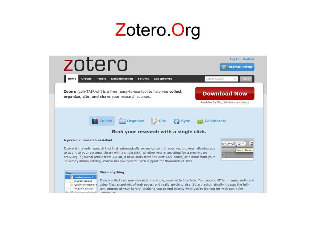 Zotero ● Sangat dianjurkan untuk memakai salah satu perangkat lunak Reference Manager sedini mungkin untuk menunjang kesuksesan studi Anda.
