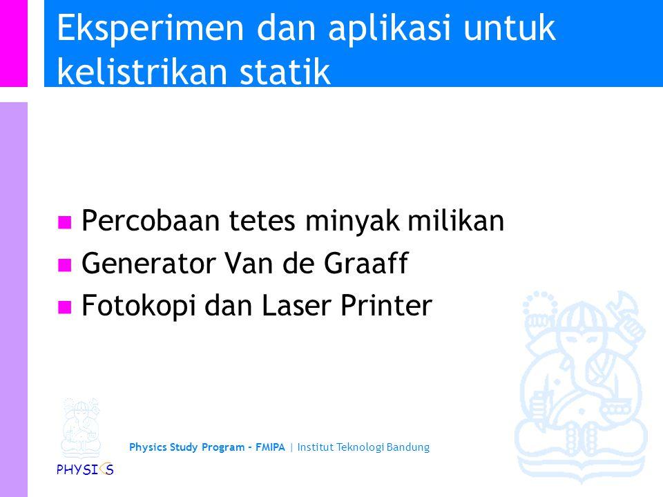 Physics Study Program - FMIPA | Institut Teknologi Bandung PHYSI S Induksi Balon pada dinding Dinding adalah netral dan sebagai insulator Muatan +ve b