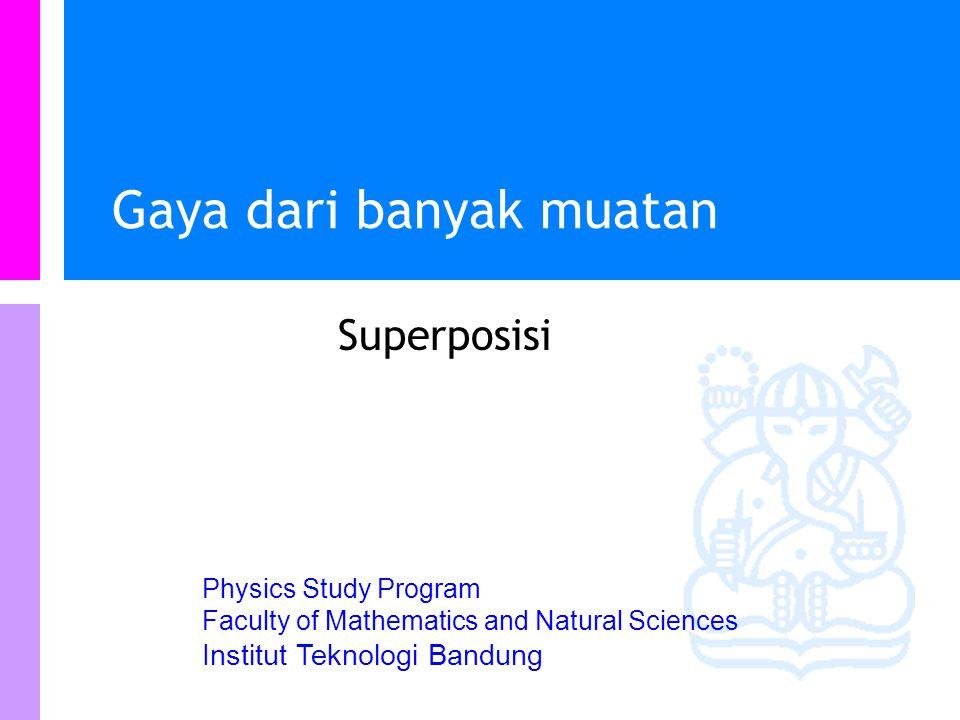 Physics Study Program - FMIPA | Institut Teknologi Bandung PHYSI S Kuis A: F AB =-3F BA B: F AB =-F BA C: 3F AB =-F BA D: F AB =12F BA Objek A bermuatan +2  C dan Objek B bermuatan +6  C.