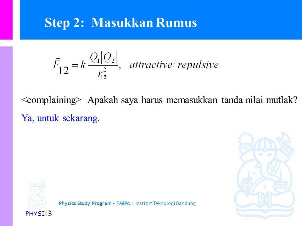 Physics Study Program - FMIPA | Institut Teknologi Bandung PHYSI S Gambar sebuah sketsa yg representatif —done. Gambar dan beri label sketsa yg releva