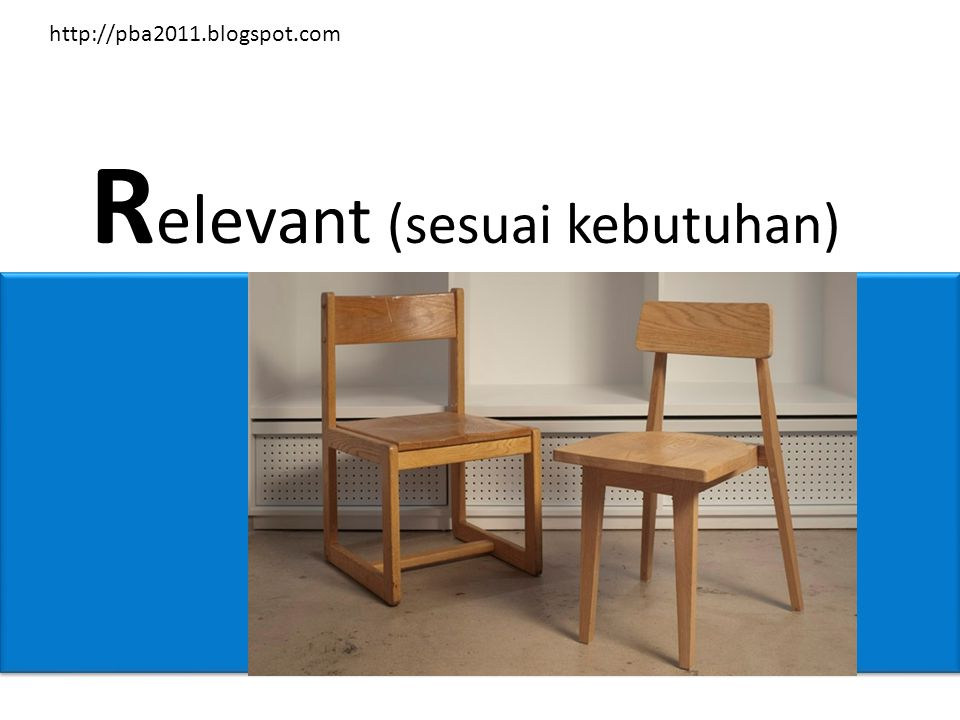 R elevant (sesuai kebutuhan) http://pba2011.blogspot.com
